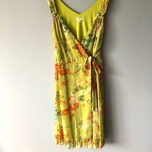 Cato Wrap Dress Green Floral Print Size 24W